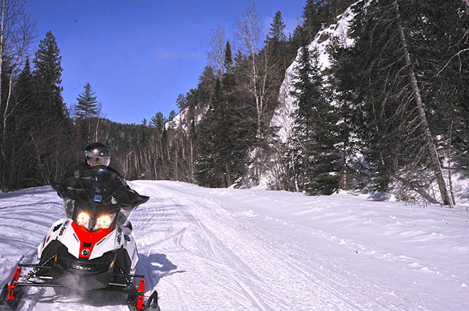 snowmobile trail mississagi