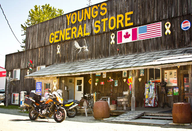 youngs general store wawa
