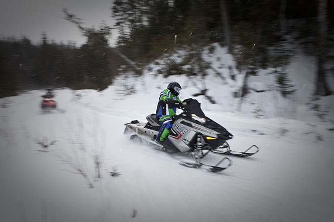 powder algomatrails snowmobile ontario