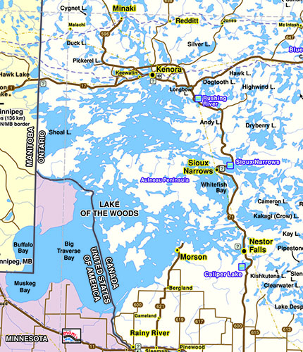10 facts about lake of the woods northern ontario travel for Ice fishing lake of the woods mn