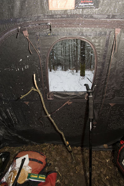 A view from the blind while hunting deer in Northwestern Ontario's Dryden Area