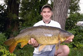 Aaron Kylie's gorgeous mid-20 pound carp, and fish even much bigger than this, are very common throughout Ontario.  Fish twice this big are caught every year in Ontario