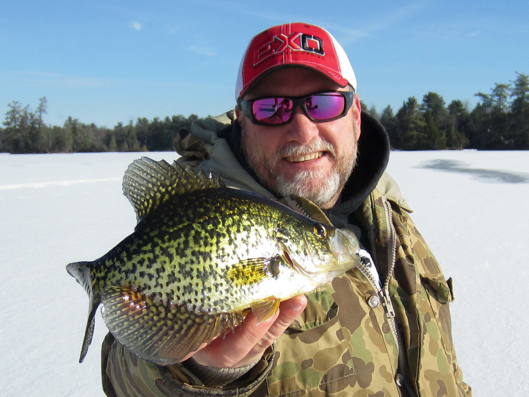 ice fishing black crappies