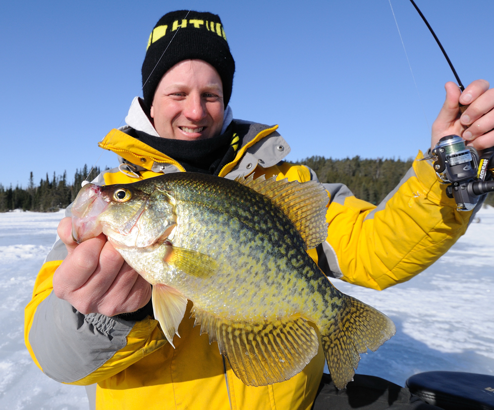 ice fishing black crappie