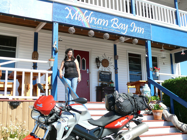 Shirin gives a personal welcome at Meldrum Bay Inn
