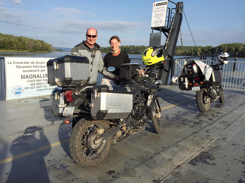 JR with Ollie Ferry across Ottawa River with map 1