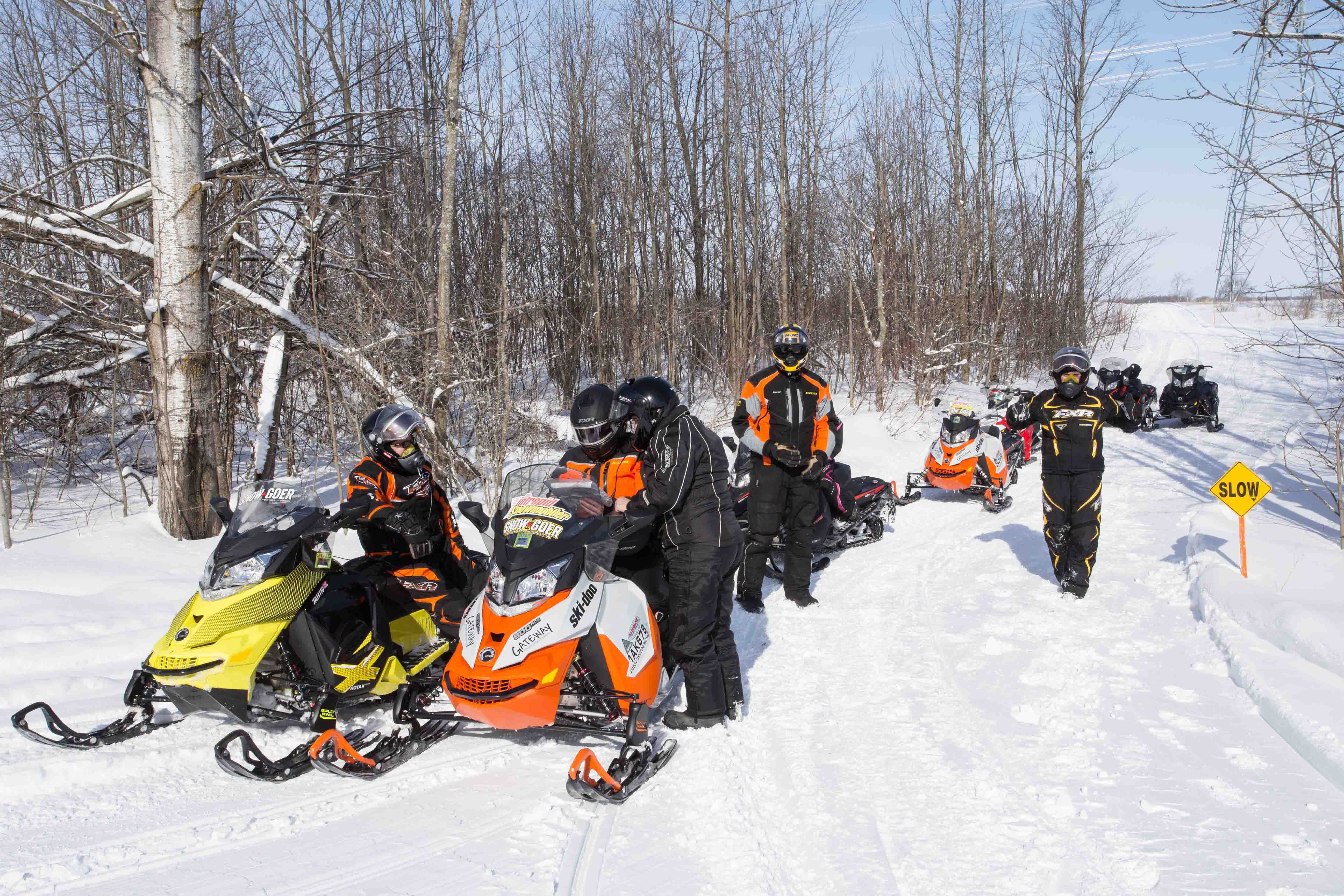 The Best On-Trail Locations for Staging Snowmobile Trips in Ontario Quebec Snowmobile Trail Map on