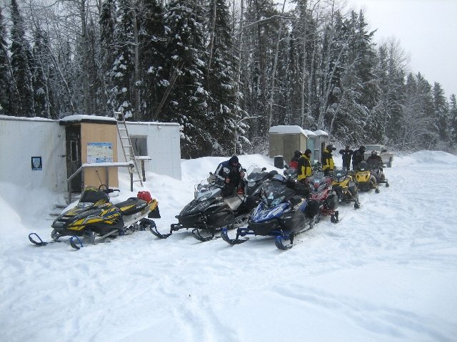sledders at camp
