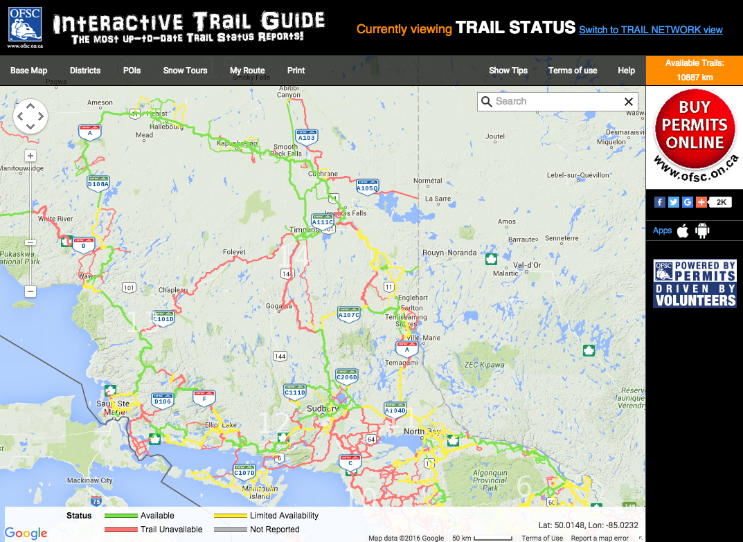 OFSC Trail Map Jan 28 2016