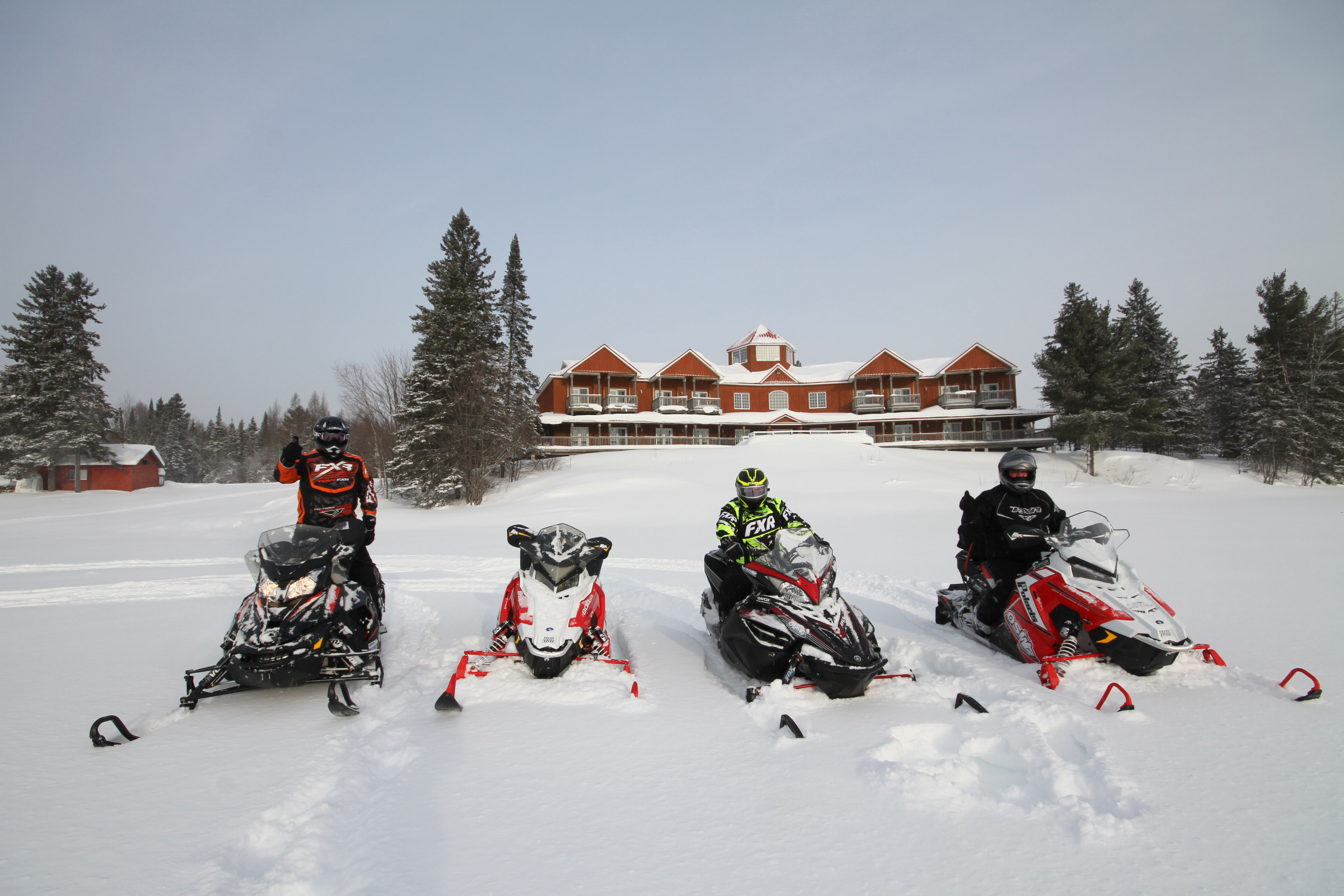 snowmobiling in explorers edge
