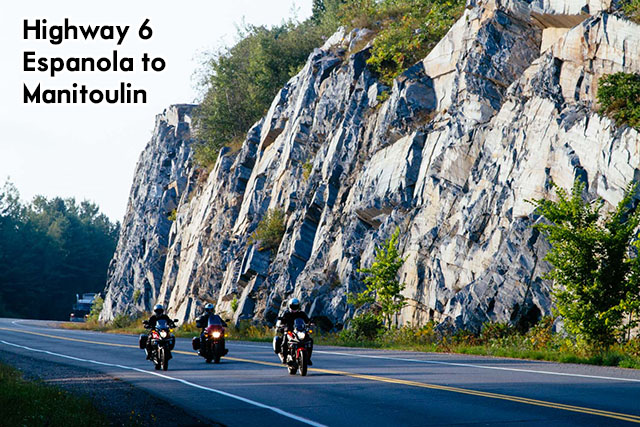 highway 6 espanola to manitoulin