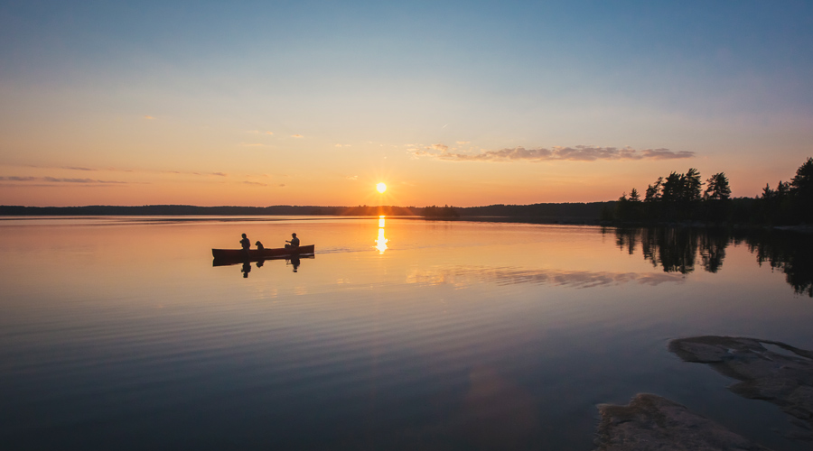 Quetico-Sunset-Paddle