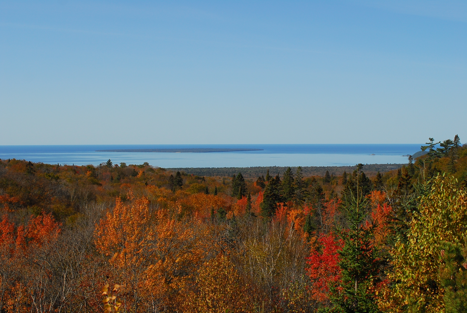 Fall View to LAke Superior
