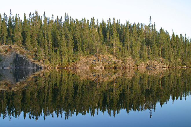 Reflection on Dryberry Lake