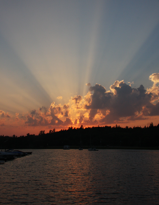 Sunset over Lake of the Woods in Kenora