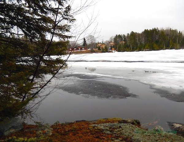 Ice conditions near Sioux Lookout, Ontario