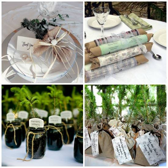 Evergreen Memories offers environmentally friendly wedding favors and corporate gifts