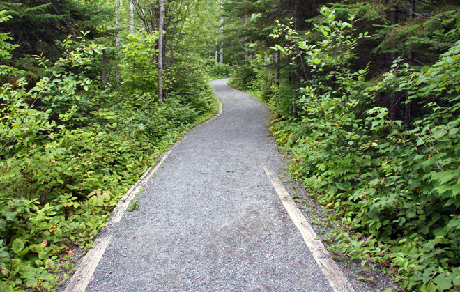 The wheelchair accessible Mountain Portage Trail at Kakabeka Falls