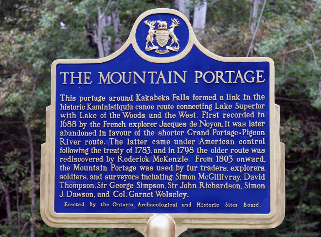 The Mountain Portage connected Lake Superior to Lake of the Woods