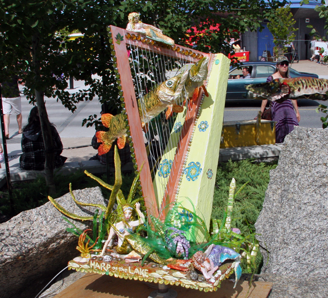 Check out the detail on this Harp by Esme Boone