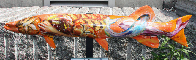 Great colours on this muskie that can be found on the way to the Harbourfront from Main Street