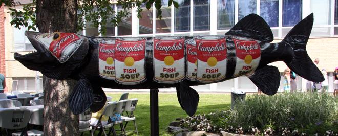 Tammy has a pretty neat reasoning for the Campbell's soup labels click the title to find out more