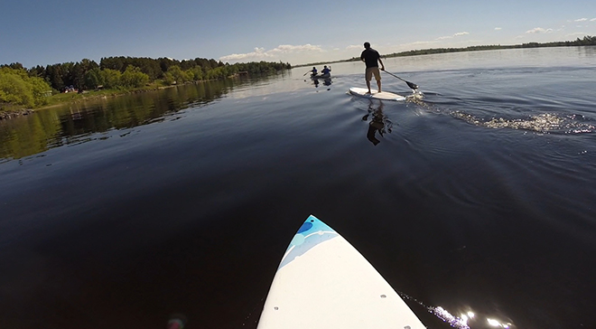 Paddleboarding on Lake of the Woods