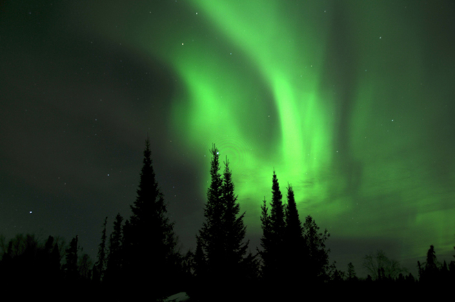 Watch the Northern Lights like these ones seen at Fireside Lodge