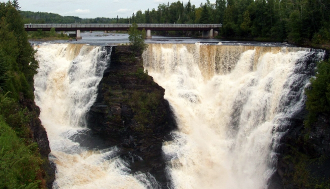 Kakabeka Falls is one of the many easily accessible waterfalls right off the Highway