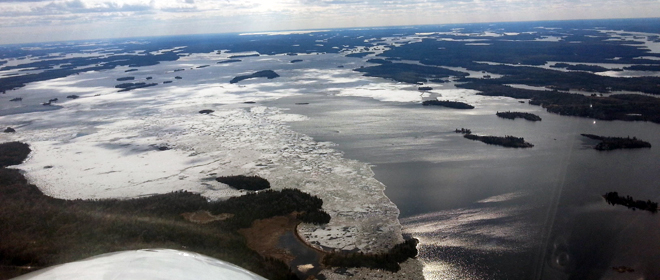 There's still a lot of ice on Lake of the Woods