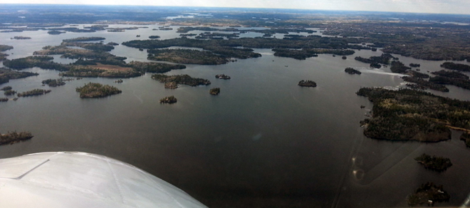 The water closer to Kenora is open.