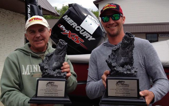 John Peterson and Jeff Gustafson take home first place in the Fort Frances Canadian Bass Championship