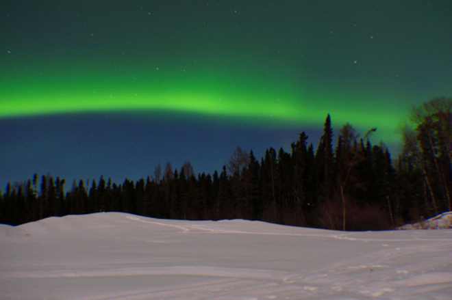 Northern Lights in Kenora, Ontario