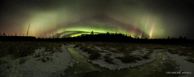 Northern Lights from the backside of the Sleeping Giant by Jakub Sisak Photography