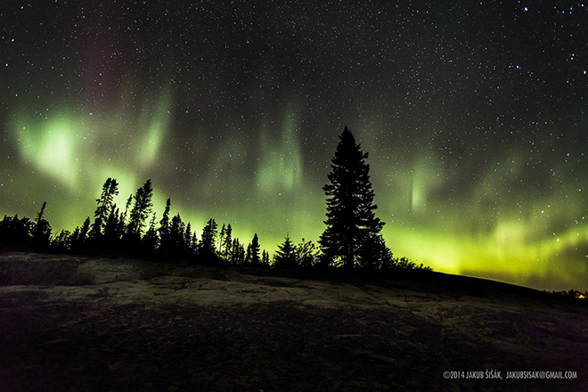 Northern Lights at MacKenzie Point by Jakub Sisak Photography