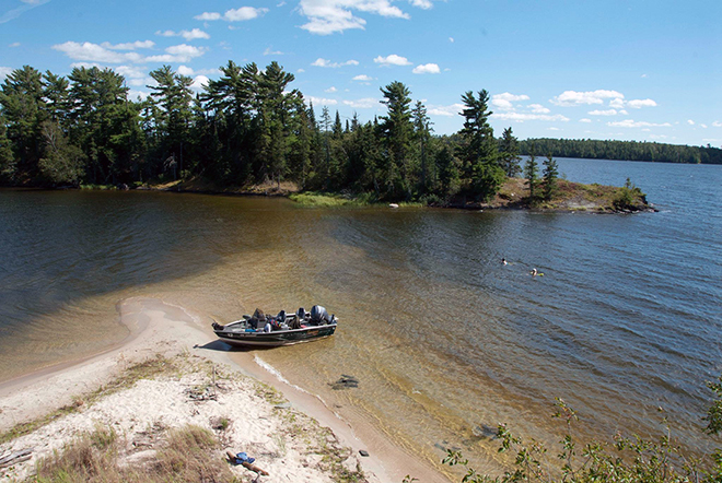 Sandy beach on Lake of the Woods, Ontario, Canada