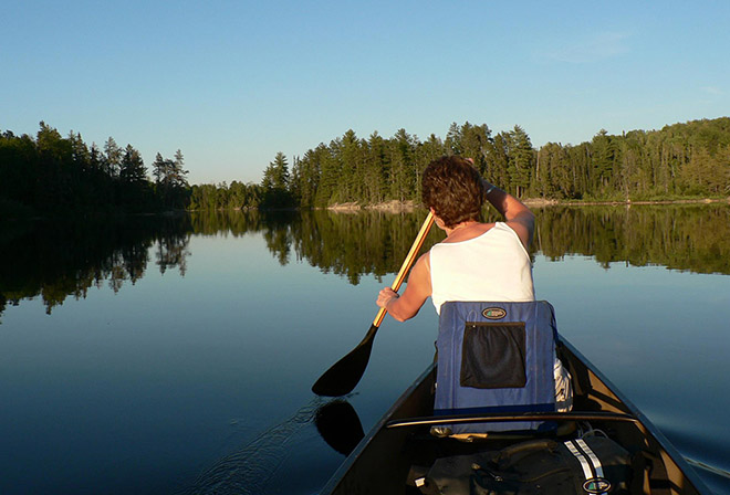 Canoeing one of the many lakes in Quetico. Photo: Mike McKinnon, Atikokan Progress
