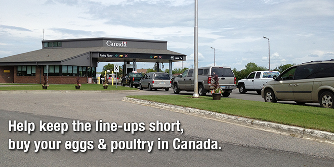 Keep the line-up at the Canadian border short by following the rules.