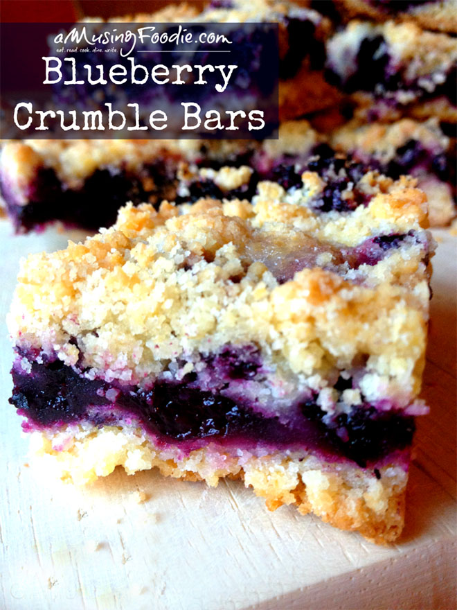 Blueberry crumble bars that are both easy to make and delicious!