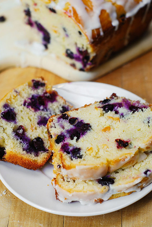 The lemon glaze on this blueberry bread sends it over the top