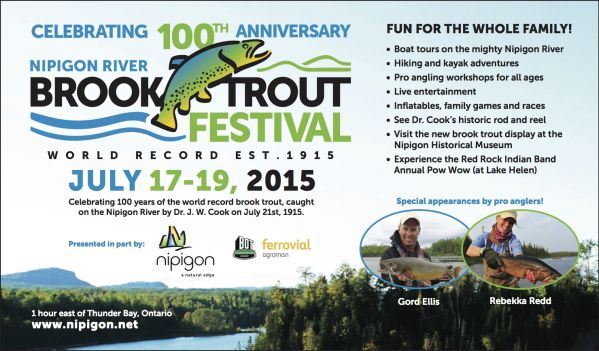 Nipigon River Brook Trout Festival 2015