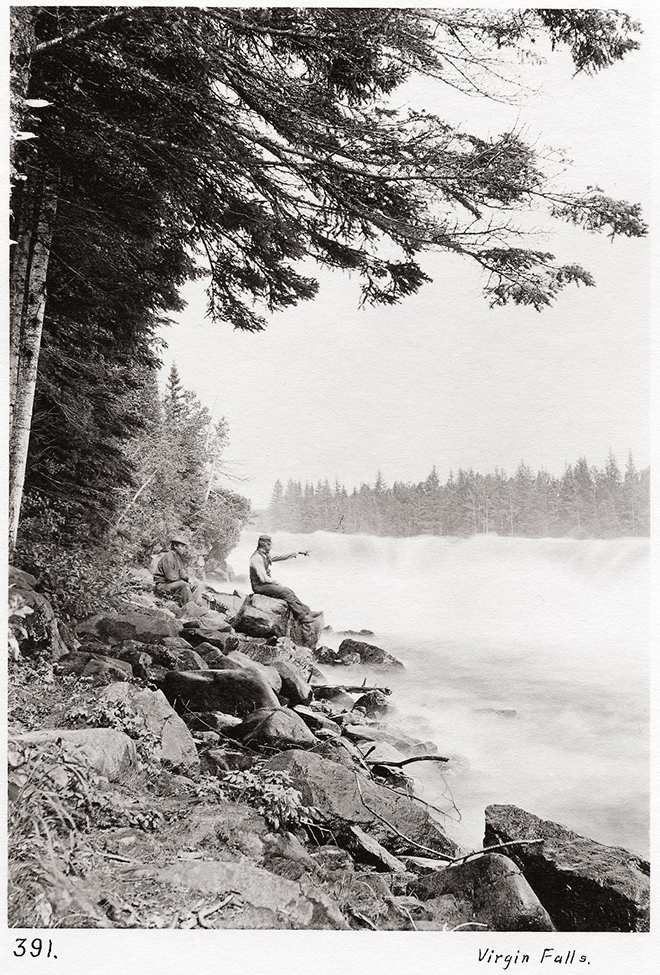 Virgin Falls, Nipigon River. Photo courtesy of Nipigon Historical Museum