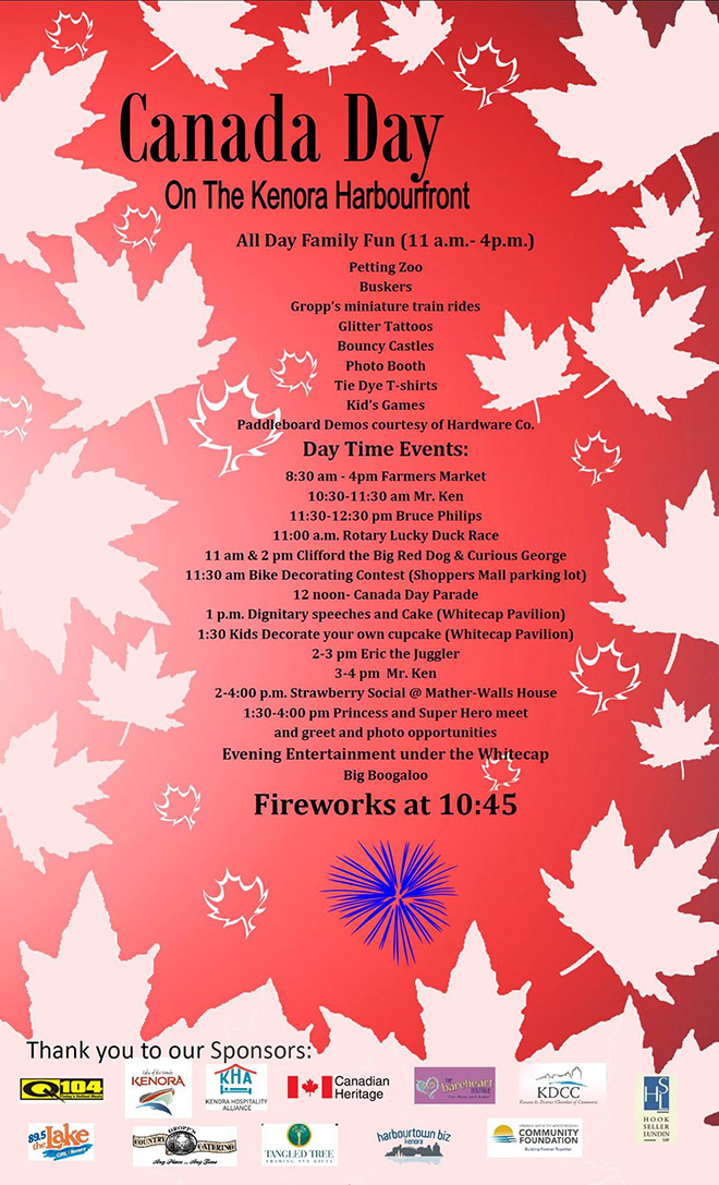 Canada Day Events in Kenora