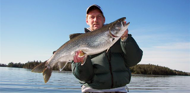 Beautiful trout caught on Eagle Lake at Vermilion Bay Lodge