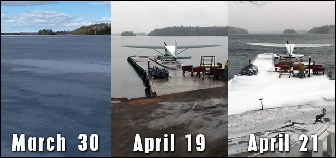 The ice was completely off Clearwater Lake on April 19, 2015