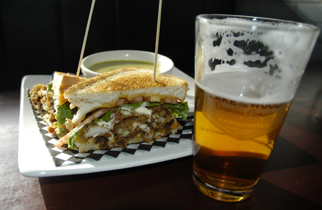 The delicious Shorelunch BLT goes well with a pint of beer