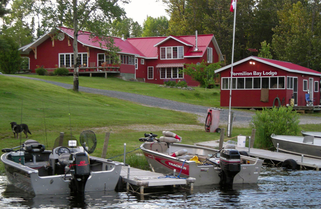 Vermilion Bay Lodge on the shores of beautful Eagle Lake, Ontario, Canada