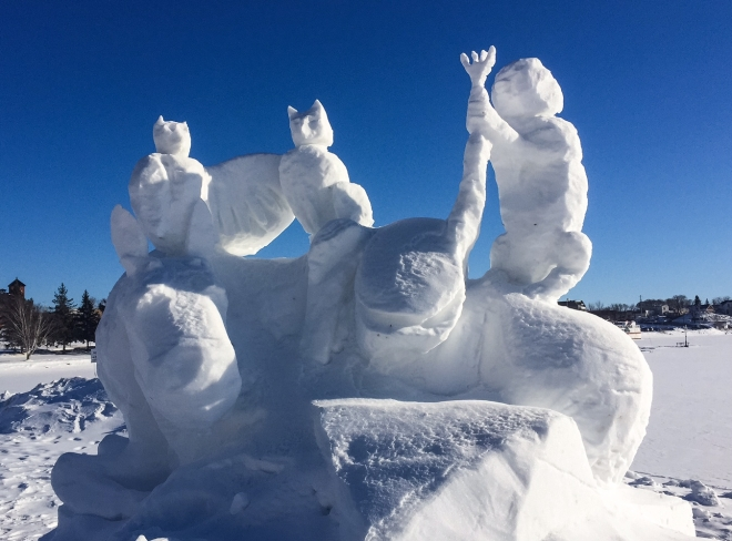 Snow sculpture 4