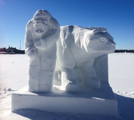 Snow sculpture 5