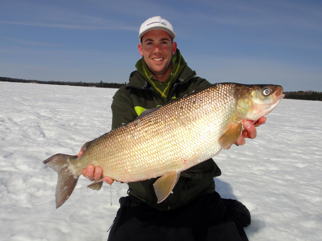 Scott Dingwall catches a huge whitefish